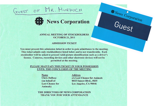Chris DeRose's News Corps AGM Pass