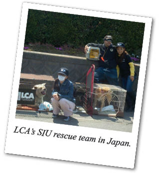 LCA's SIU rescue team in Japan.