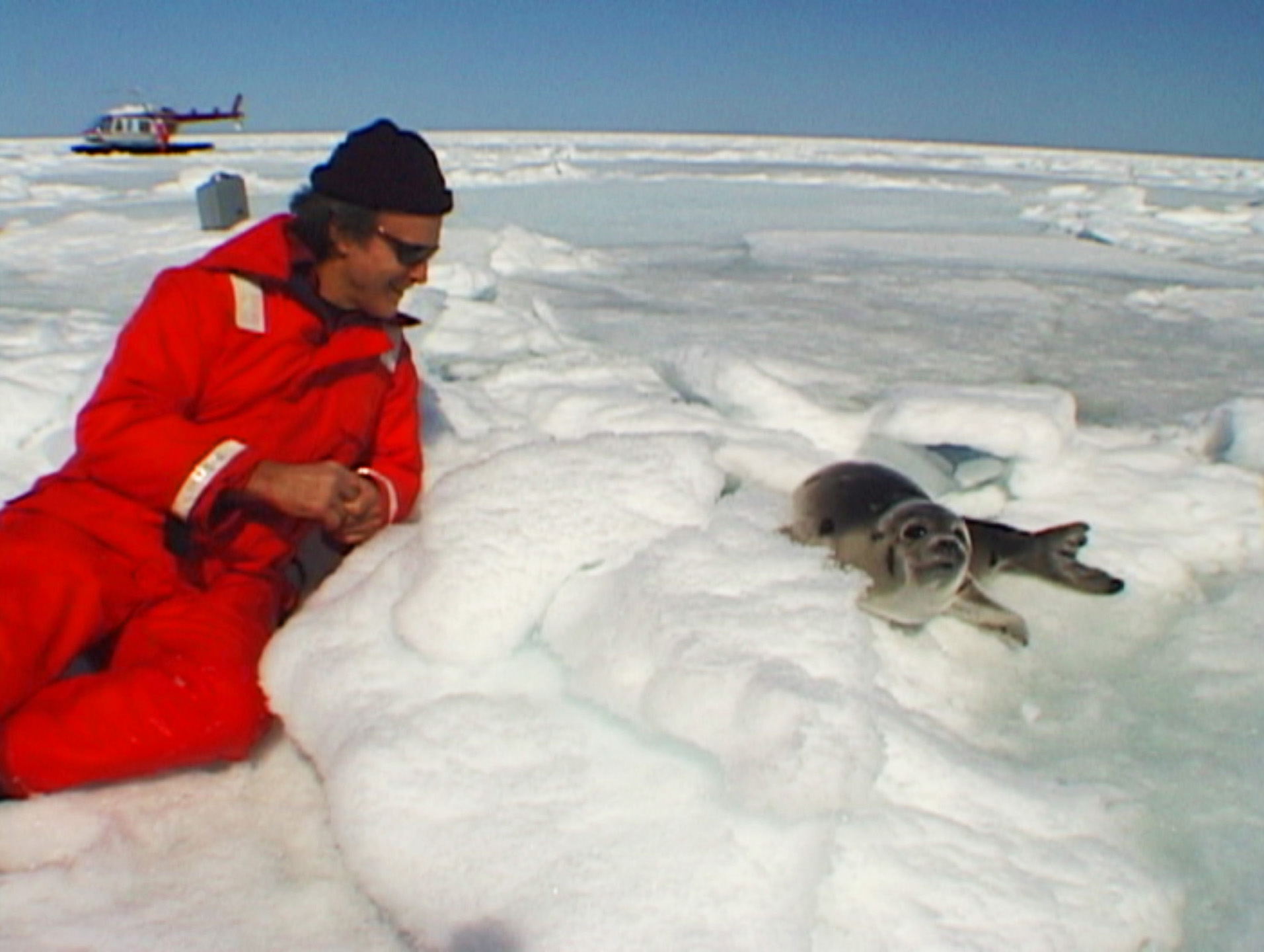 Chris DeRose Meets a Seal Pup