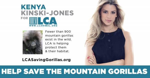 LCA Launches New Virunga PSA Campaign With Animal Activist & Model Kenya Kinski-Jones